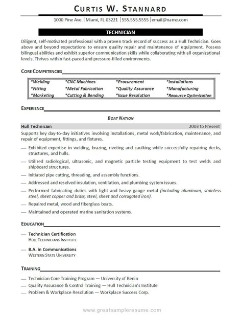 Quality Technician Description by Computer Repair Technician Resume 2nd Resume Template Best Resume Templates