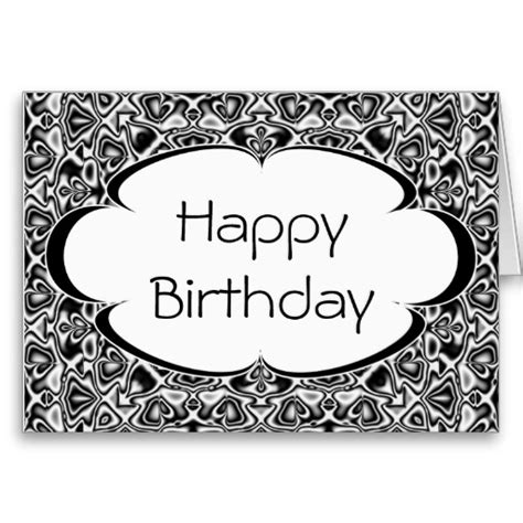 black and white birthday card template free black and white happy birthday card template