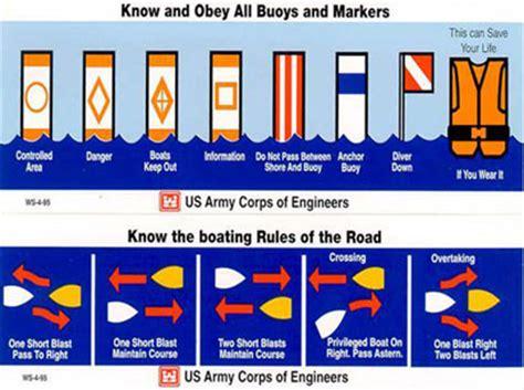 boating signs and buoys degray lake