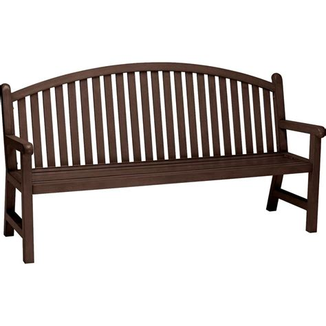 bench arch tradewinds spring arbor 6 ft arch back textured hazel nut
