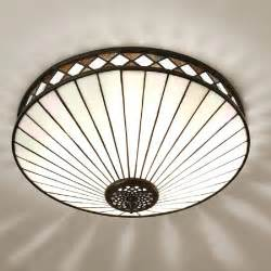 light uk deco flush fitting ceiling light for low ceilings