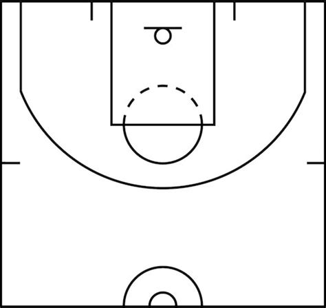 best photos of half court basketball template