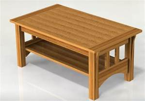 mission style coffee table woodworking plans plans only