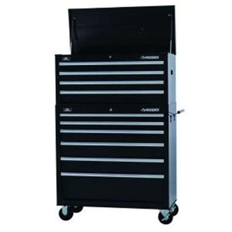 husky 40 in w 10 drawer tool chest and cabinet set htc404