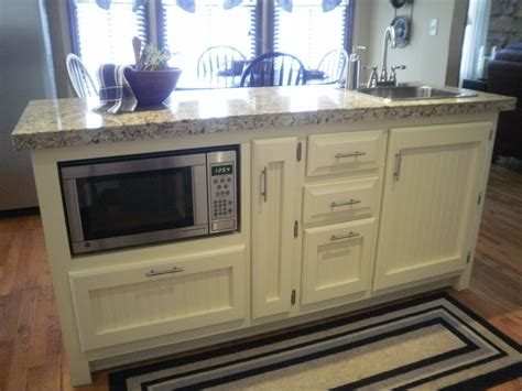 kitchen island with microwave old sweetwater cottage no man or woman is an island