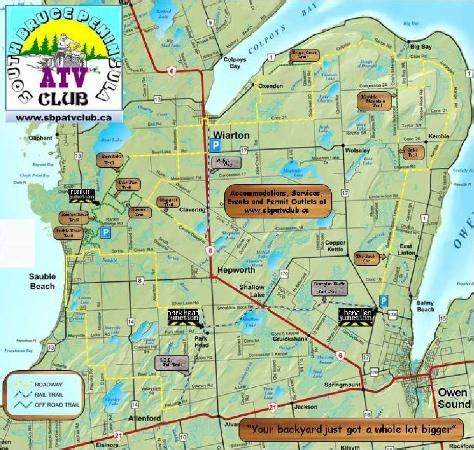 sauble resort c map atv ers taking advantage of our fantastic trail system