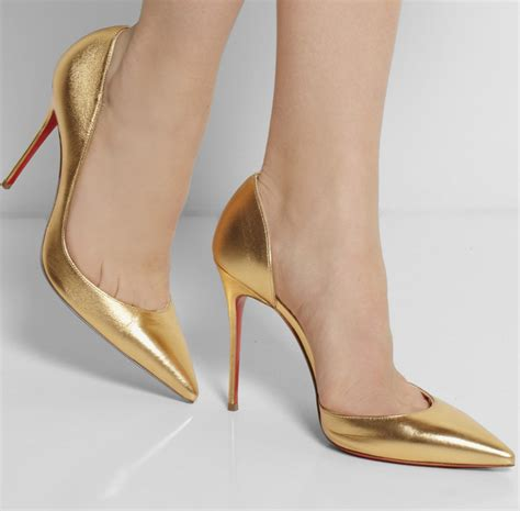 color high heels gold color high heels mad heel