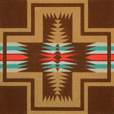 Navajo Quilt Patterns by Navajo Pattern In Brown Quilts Southwestern
