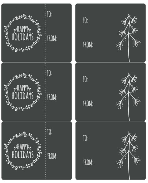 happy holiday label printables  catherine auger worldlabel blog