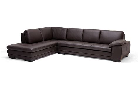 reverse sectional sofa diana dark brown sofa chaise sectional reverse