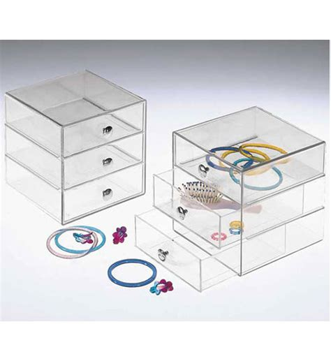Acrylic Drawer Storage by Three Drawer Acrylic Storage Chest In Storage Drawers