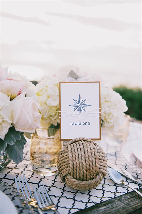 Romantic Nautical Wedding Inspiration   Glamour & Grace