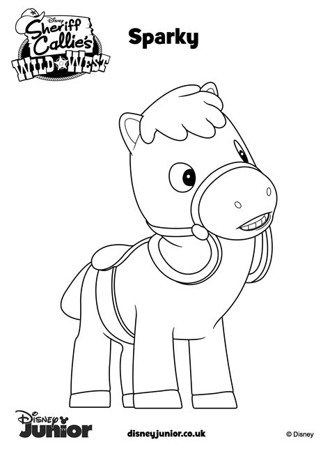 free coloring pages of deputy peck