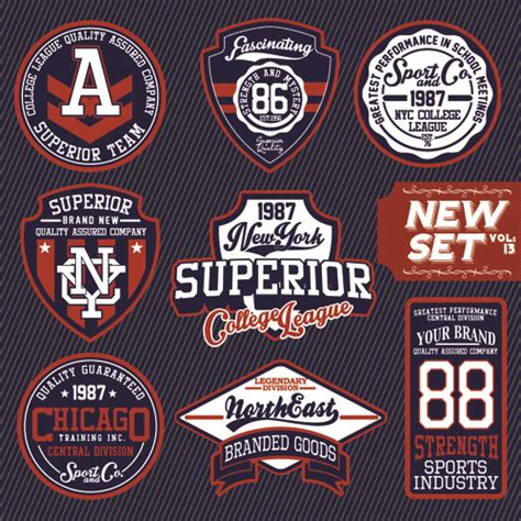 design label t shirt vintage t shirt labels creative vector free vector in