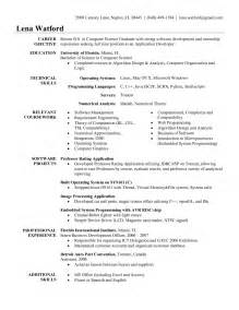 sle resume for experienced software engineer doc sle resume of sw developer format for software engineer
