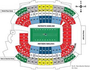gillette stadium floor plan gillette stadium map world map 07