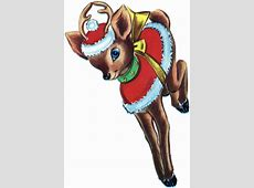 Retro Christmas Reindeer Image - The Graphics Fairy A-paper Clip Art