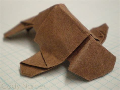 Origami Manatee - hobbies let s a byte