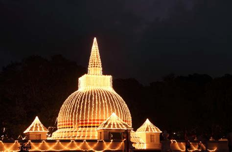 Temple Lights by Buddhism Tour Lanka Tours