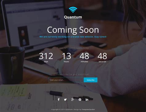 bootstrap themes free countdown quantum coming soon bootstrap template templategarden