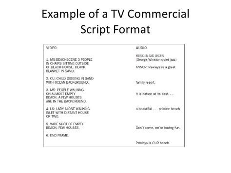 Tv Commercial Packages Template Tv Commercial Script Template Related Keywords Tv