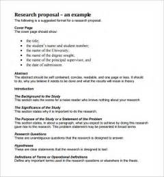 Business Research Proposal Template Sample Research Proposal Template 5 Free Documents