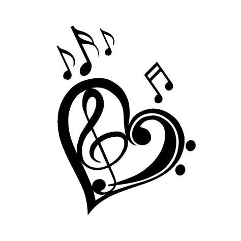 13*17.7CM Cute Love Music Notes Bumper Sticker Cartoon