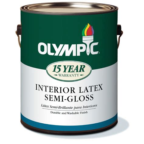 best interior semi gloss paint shop olympic gallon size container interior semi gloss