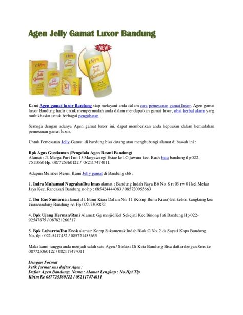 Obat Herbal Jelly Gamat Luxor agen jelly gamat luxor bandung obat herbal miom