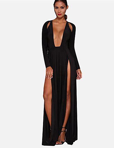 Maxi Aldina s swing dress solid v maxi
