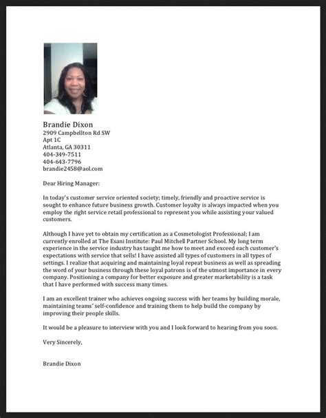 cosmetology cover letter pin receptionist resume exle 187 entry level on