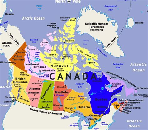 canadian map labeled labeled physical map of canada pictures to pin on