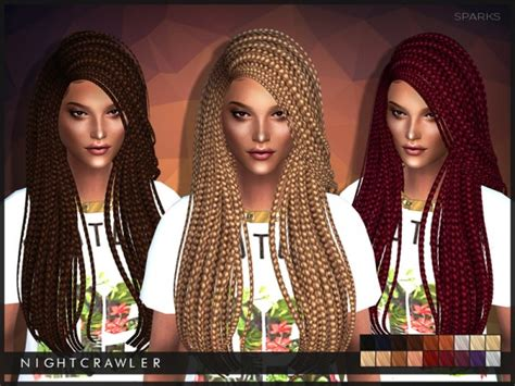 sims 4 custom content side braids sims 4 hairs the sims resource sparks million braids