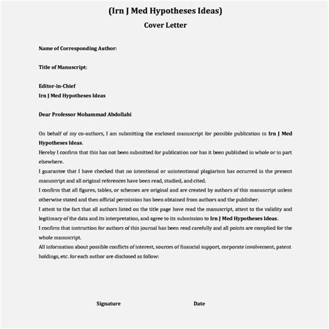 cover letter template for journal submission image