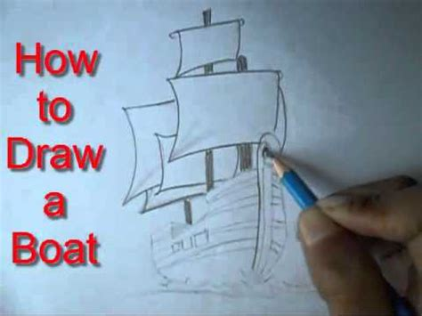 easy way to draw a boat how to draw a boat easy way drawing youtube