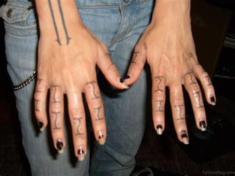 finger tattoos men designs 66 finger tattoos for