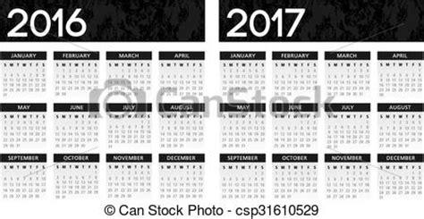 calendario calcio inglese 2016 2017 illustrazioni vettoriali di calendario textured nero