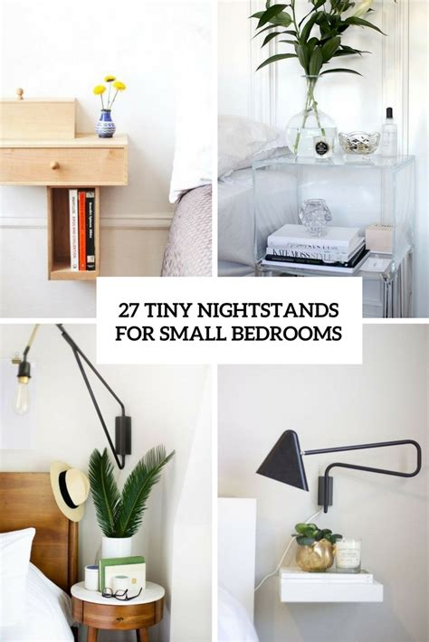 small bedroom nightstands 27 tiny nightstands for small bedrooms shelterness