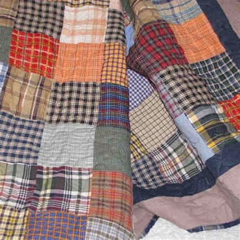 Quilt Made From Shirts by Quilt Made From S Plaid Shirts Quilts Blankets