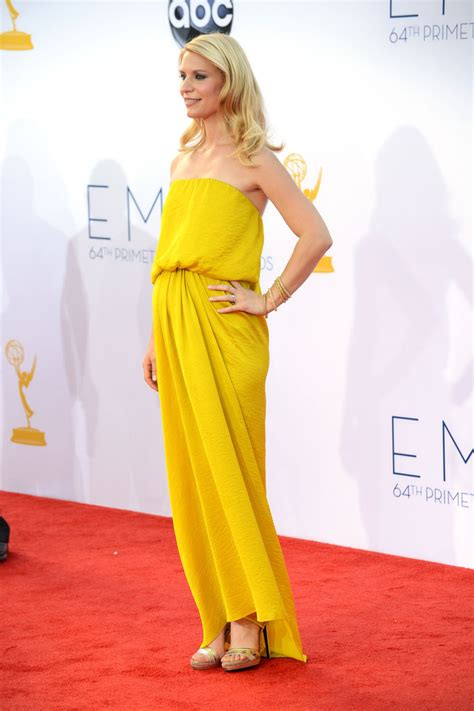 claire danes yellow dress claire danes in yellow lanvin dress at emmys 2012