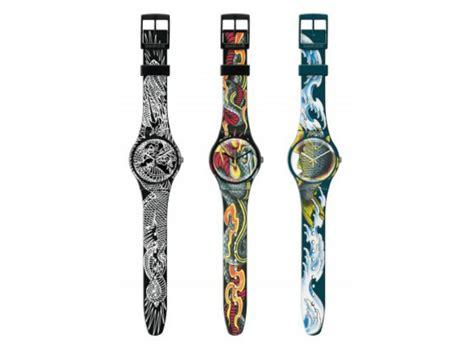 Swatch E gli swatch con i tatuaggi di tin tin foto drezzy