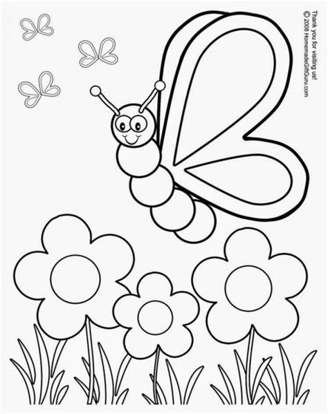 free printable spring coloring pages free coloring sheet