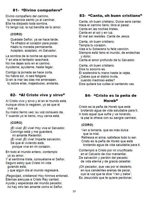 letra de cantos cristianos himnos salmos y c 225 nticos espirituales del 41 al 88 pdf