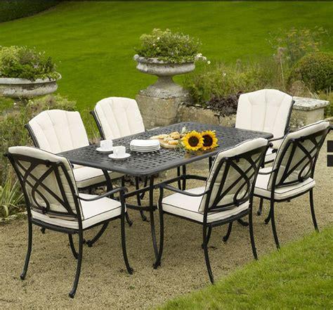 cast aluminium patio furniture bramblecrest valencia 6 seat cast aluminium garden