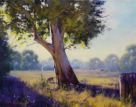 Landscape Paintings Australia Australian Landscape By Artsaus On Deviantart