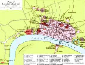 London England Map by Medieval London Maps