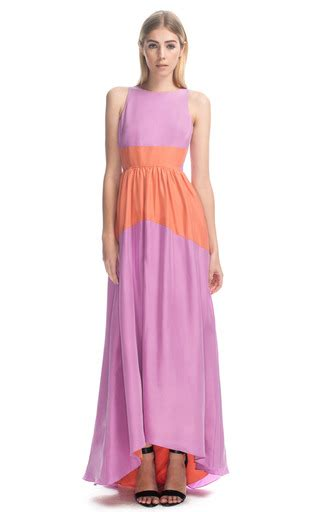 on dress da mood two tone maxi dress by tibi moda operandi