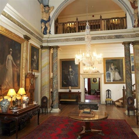 shabby castle chic rich and gorgeous home decor main hall glenarm castle northern ireland
