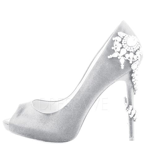 prom high heels pumps silver rhinestone stiletto high heels 11607192