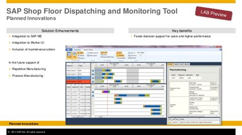 Dispatching In Shop Floor - sap sap nin yeni 220 retim otomasyon yaklaşimi sap forum 2013